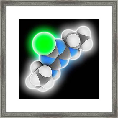 Atrazine Herbicide Molecule Framed Print by Laguna Design