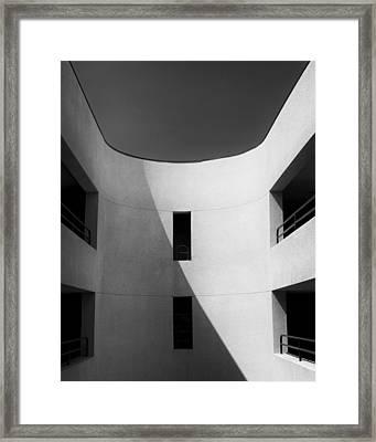 Atrium Bw Palm Springs Framed Print