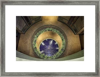 Atrium Wishing Well Framed Print by Lynn Palmer