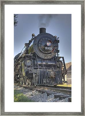 Atsf 3415 Head On Framed Print by Shelly Gunderson