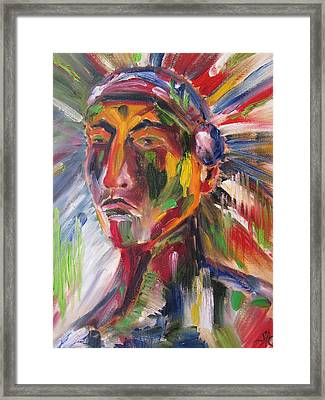 Atsila, Native American Framed Print