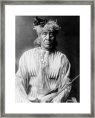 Atsina Indian Man Circa 1908 Framed Print by Aged Pixel