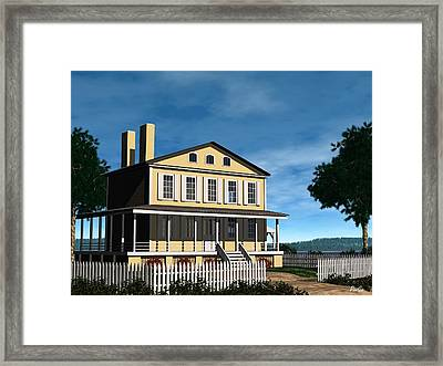Atsion Mansion Framed Print by John Pangia