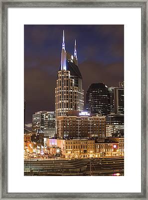 Att Building Nashville  Framed Print