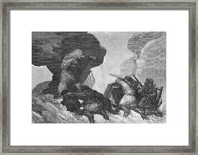 Attack Framed Print by Julius Prayer