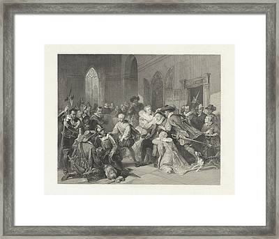 Attack Of Jean De Jauregui On Prince William Framed Print by Litz Collection