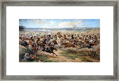 Attack Of The Horse Regiment Framed Print by Victor Mazurovsky