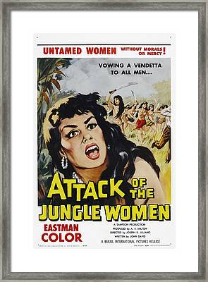 Attack Of The Jungle Women, 1959 Framed Print