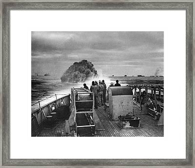 Attack On German Submarine U-175 Framed Print by Us Coast Guard