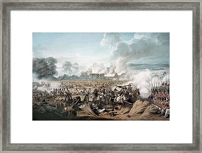 Attack On The British Squares By French Framed Print