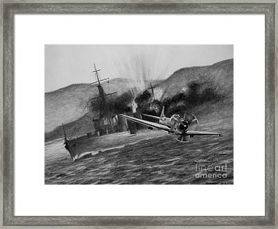 Framed Print featuring the drawing Attack On The Yura by Stephen Roberson