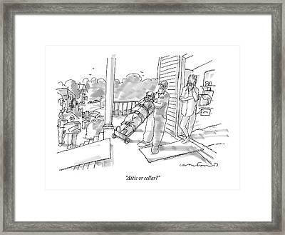 Attic Or Cellar? Framed Print