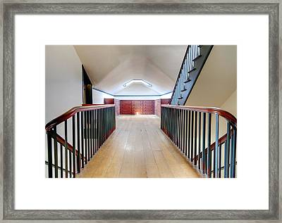 Attic Staircase Framed Print by Alexey Stiop