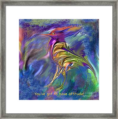Attitude Framed Print by Ursula Freer