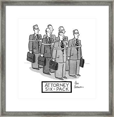 Attorney Six-pack Framed Print