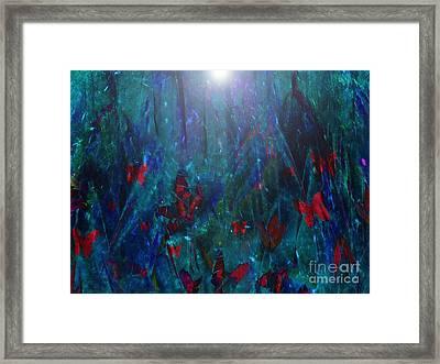 Attracted To Light Framed Print by Klara Acel