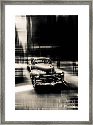 attracting curves III gray Framed Print by Hannes Cmarits