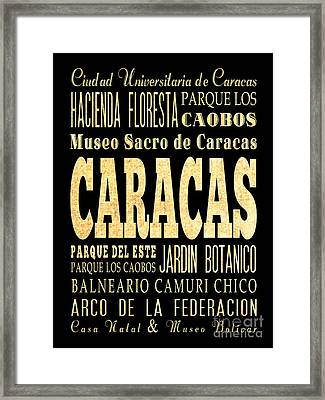 Attraction And Famous Places Of Caracas Venezuela Framed Print
