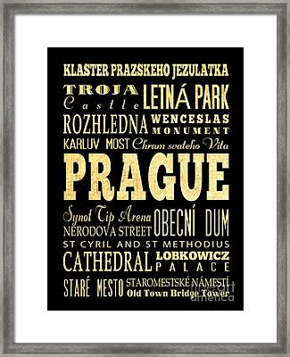 Attraction And Famous Places Of Prague Czech Republic Framed Print