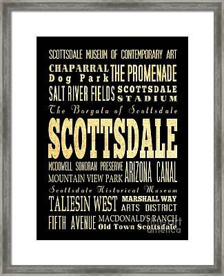 Attraction And Famous Places Of Scottsdale Georgia Framed Print by Joy House Studio