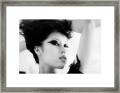 Attractive Asian Woman Framed Print by Fototrav Print