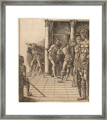 Attributed To Andrea Mantegna Italian, Ca. 1431 - 1506 Framed Print by Litz Collection
