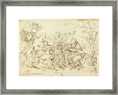 Attributed To Donato Creti, Italian 1671-1749 Framed Print by Litz Collection