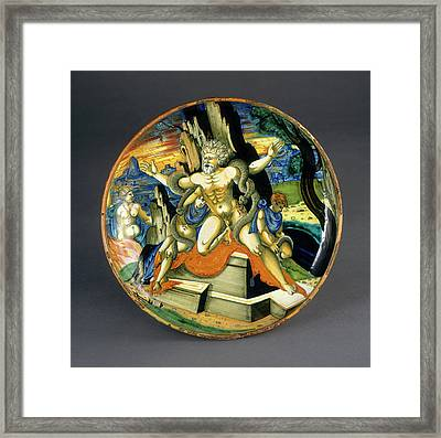 Attributed To Francesco Xanto Avelli, Urbino, Possibly Framed Print by Quint Lox