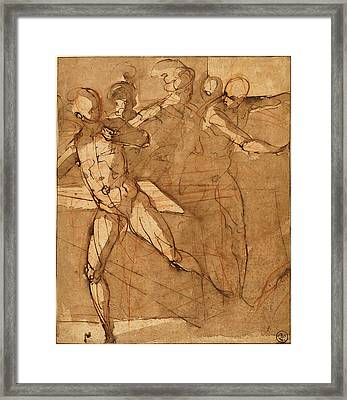 Attributed To Il Cigoli, Italian 1559-1613 Framed Print by Litz Collection