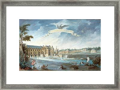 Attributed To Nicolas Marie Ozanne, French 1728-1811 Framed Print