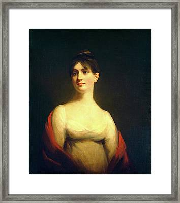Attributed To Sir Henry Raeburn, Miss Davidson Reid Framed Print by Litz Collection