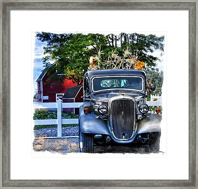 Autumn Days Now And Forever Framed Print