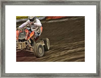 Atv Speed Framed Print by Karol Livote