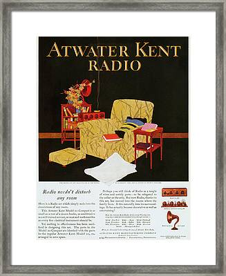 Atwater Kent Radio Ad, 1925 Framed Print by Granger