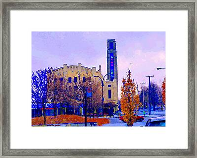 Atwater Market In Winter South West Montreal Historic St Henri Landmark City Scenes Carole Spandau Framed Print
