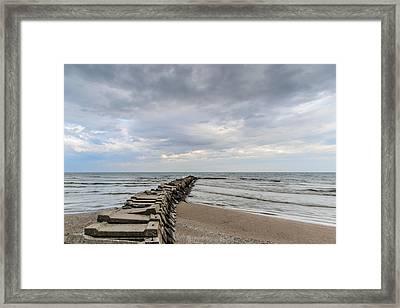 Atwater Pier Framed Print by Randy Scherkenbach