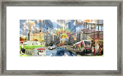 Atx Explosion Framed Print