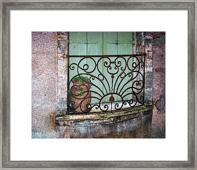 Au Balcon Framed Print by Nikolyn McDonald