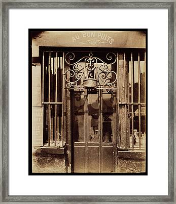 Au Bon Puits, Rue Michel Le Conte, 36 IIie Eugène Atget Framed Print by Litz Collection