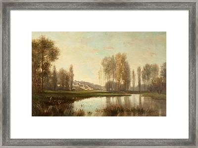 Au Bord De Loise Framed Print by Stanislas Victor Edouard Lepine