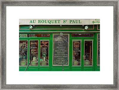 Au Bouquet St. Paul Framed Print by Matthew Bamberg
