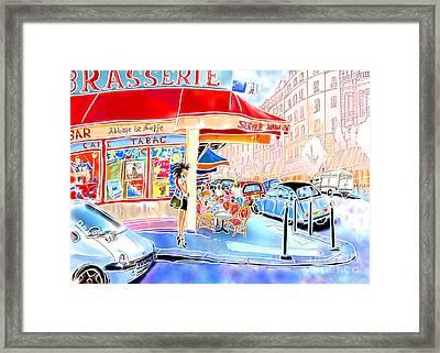 Au Coin De La Rue  Framed Print