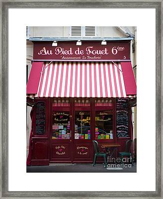 Au Pied De Fouet Framed Print by Inge Johnsson