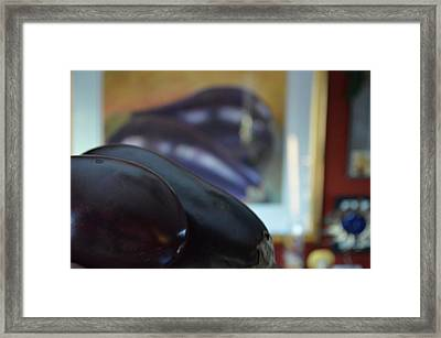 Framed Print featuring the photograph Aubergine A Go Go  by Brian Boyle
