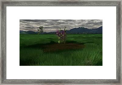 Aubergine Framed Print