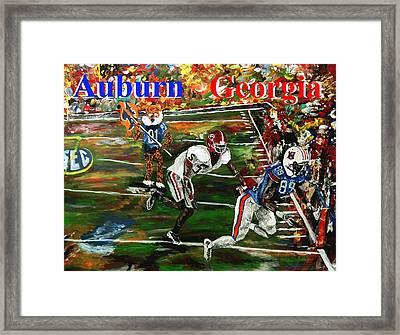Auburn Georgia Football  Framed Print by Mark Moore