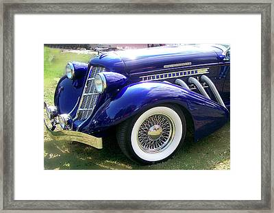 Framed Print featuring the photograph Auburn  by Larry Bishop