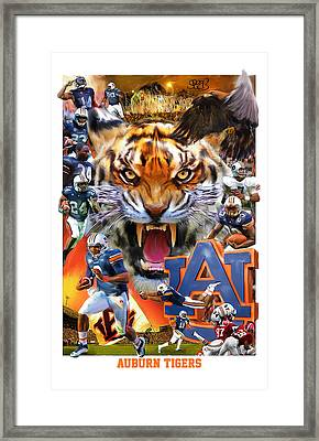 Auburn Tigers Framed Print by Mark Spears