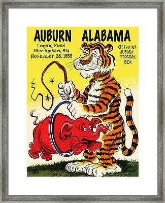 Auburn Vs. Alabama 1959 Vintage Program Cover Framed Print