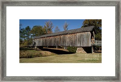 Auchumpkee Creek Bridge Framed Print by Donna Brown